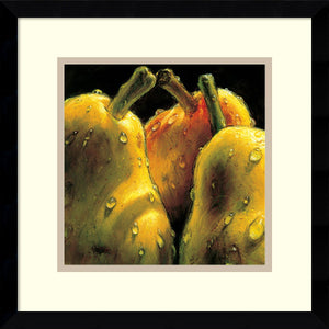 "15""H AlmaCh Pears Framed Art Print White/Warm Gray"