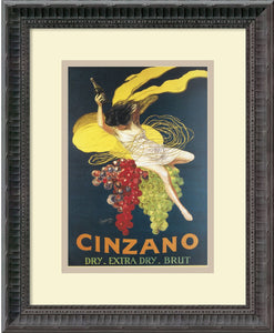 Amanti Art Leonetto Cappiello Cinzano 1920 Framed Art Print Pure White/Warm Gray AA979707