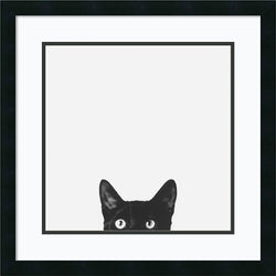 Amanti Art Jon Bertelli Curiosity Framed Art Print Satin Black AA981533