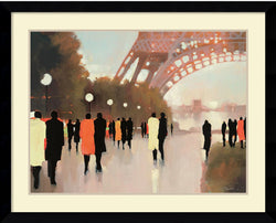 Amanti Art Lorraine Christie Paris Remembered Framed Art Print Satin Black AA981548