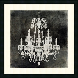 Amanti Art Oliver Jeffries Chandelier II Framed Art Print Satin Black AA981630