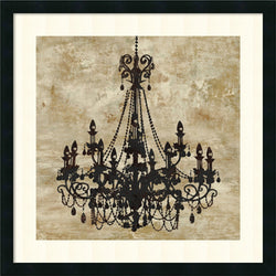 Oliver Jeffries Chandelier I Framed Art Print Satin Black