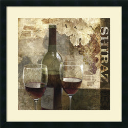 Keith Mallett Shiraz Framed Art Print Satin Black