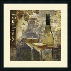 Keith Mallett Chardonnay Framed Art Print Satin Black