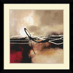 Amanti Art Laurie Maitland Symphony in Red and Khaki II Framed Art Print Satin Black AA982690