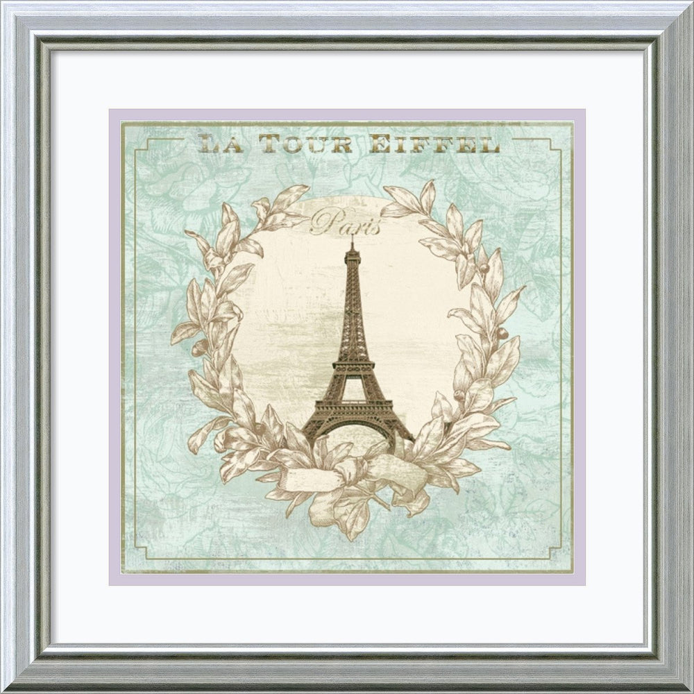 David Fischer Tour de Eiffel Framed Art Print Seashell