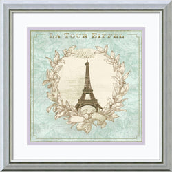 Amanti Art David Fischer Tour de Eiffel Framed Art Print Seashell AA982729