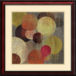 Tom Reeves Magenta Bubbles I Framed Art Print Soft Cream/Heritage Gray