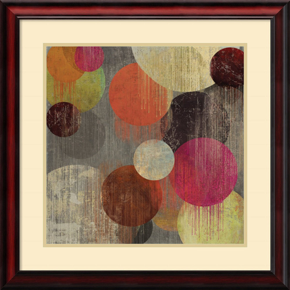 "26""H Tom Reeves Magenta Bubbles II Framed Art Print Soft Cream/Heritage Gray"