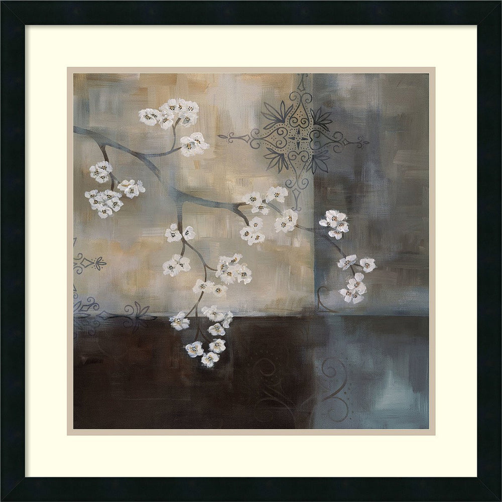 Laurie Maitland Spa Blossom II Framed Art Print Satin Black
