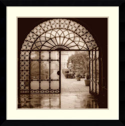 Amanti Art Alan Blaustein Courtyard in Venezia Framed Art Print Satin Black AA986616