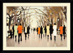 Lorraine Christie Poets Walk Framed Art Print Satin Black