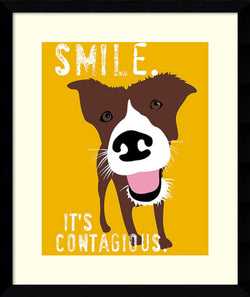 Ginger Oliphant Smile Framed Art Print White
