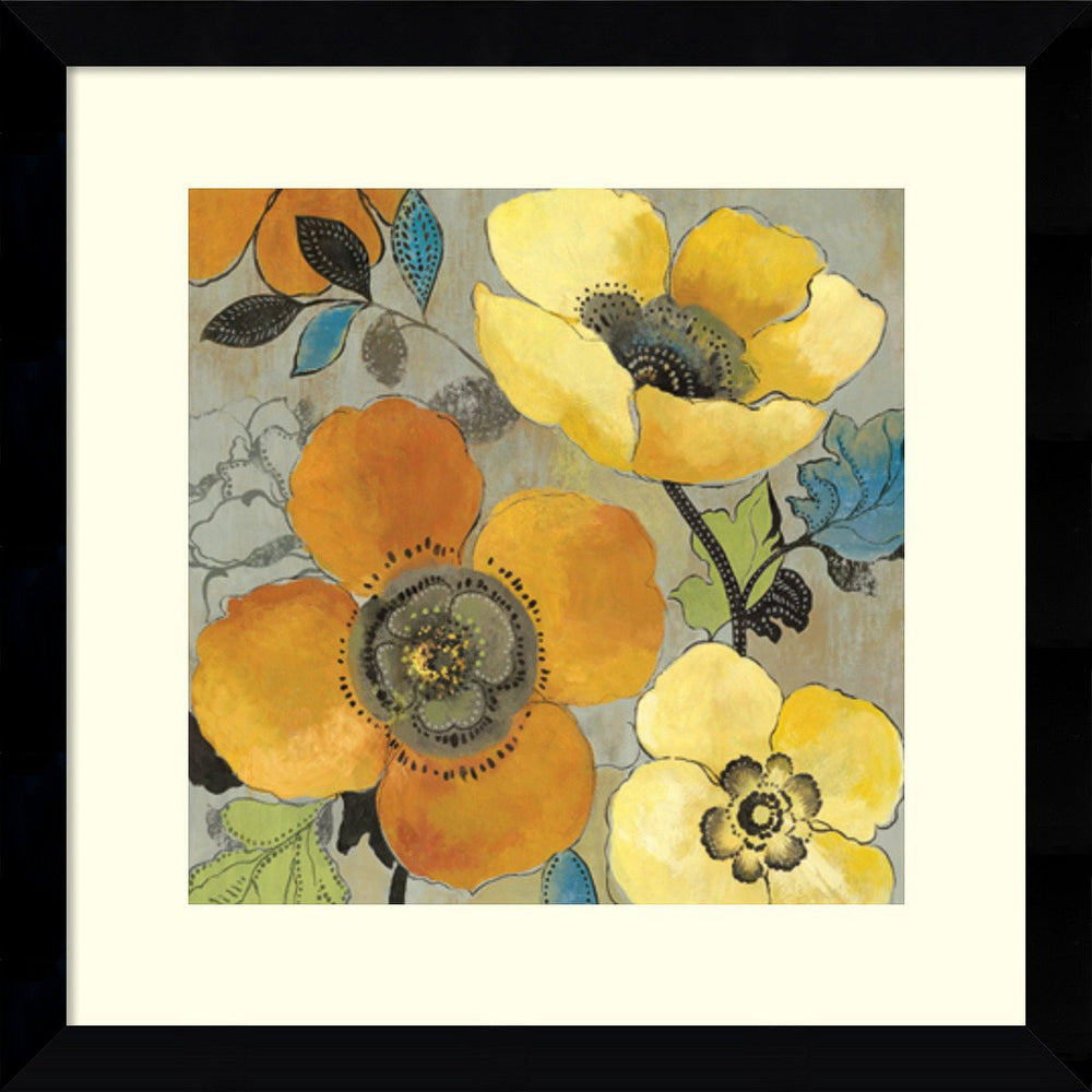 Save on Amanti Art Allison Pearce Yellow and Orange Poppies I Framed ...