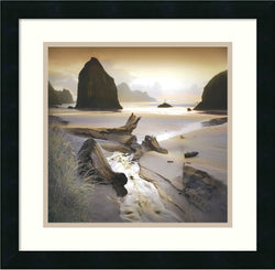 Amanti Art William Vanscoy She Sleeps In The Sand Framed Art Print Satin Black AA986796