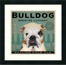 Amanti Art Stephen Fowler Bulldog Brewing Framed Art Print Satin Black AA986918