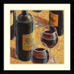 Karen Emery Wine Tasting I Framed Art Print Satin Black