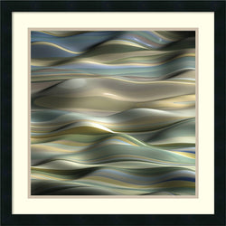 Amanti Art J.P. Clive Undulation 5 Framed Art Print Satin Black AA987000