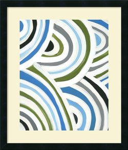 Amanti Art Jodi Fuchs Swirly Bob I Framed Art Print Satin Black AA987128