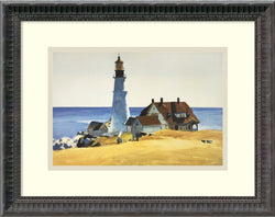 Amanti Art Edward Hopper Lighthouse and Buildings Portland Head 1927 Framed Art Print AA987427