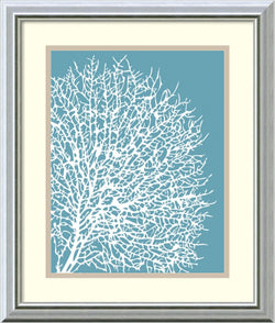 Sabine Berg Aqua Coral II Framed Art Print White/Warm Gray