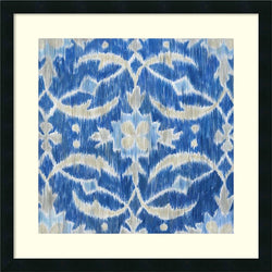 Amanti Art Megan Meagher Royal Ikat I Framed Art Print Satin Black AA987461