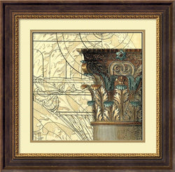 Vision Studio Architectural Inspiration I Framed Art Print Cream Linen/Rattan