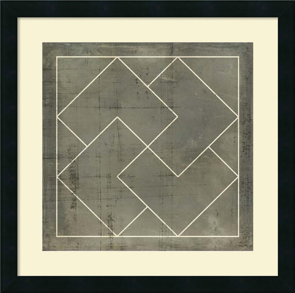 "21""H Vision Studio Geometric Blueprint III Framed Art Print Satin Black"
