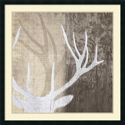 Amanti Art Tandi Venter Deer Lodge II Framed Art Print Satin Black AA987774