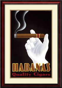 Steve Forney Habanas Quality Cigars Framed Art Print Pure White