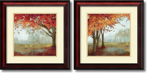 "19""H Asia Jensen A Sense of Space Set of 2 Framed Art Print"