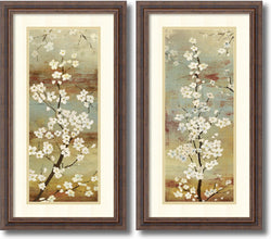 Asia Jensen Blossom Canopy Set of 2 Framed Art Print Oyster Shell