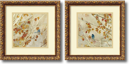 Amanti Art Asia Jensen Singing gold frame Set of 2 Framed Art Print AA995051