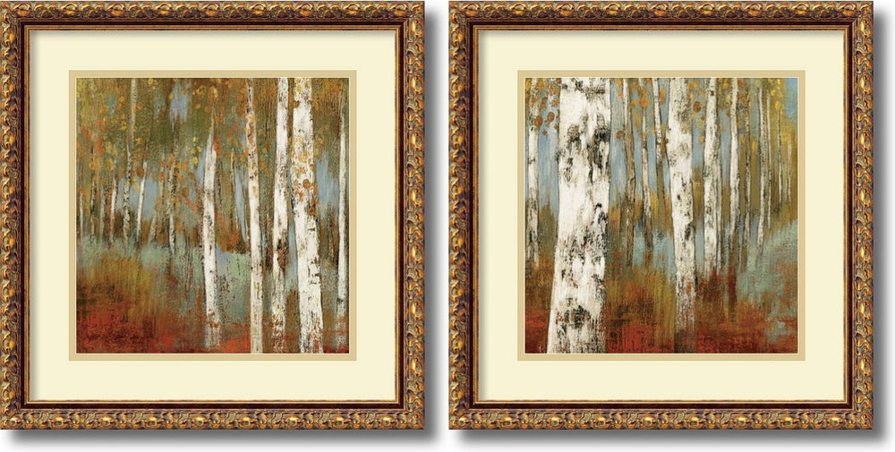 Allison Pearce Along the Path Set of 2 Framed Art Print Pure White/Heritage Gray