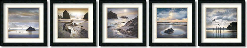 William Vanscoy Vanscoy Coastal Photography- set of 5 Framed Art Print
