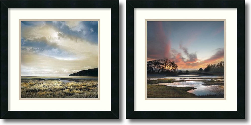 William Vanscoy Three Days Gone/Beyond the Sun Set of 2 Framed Art Print
