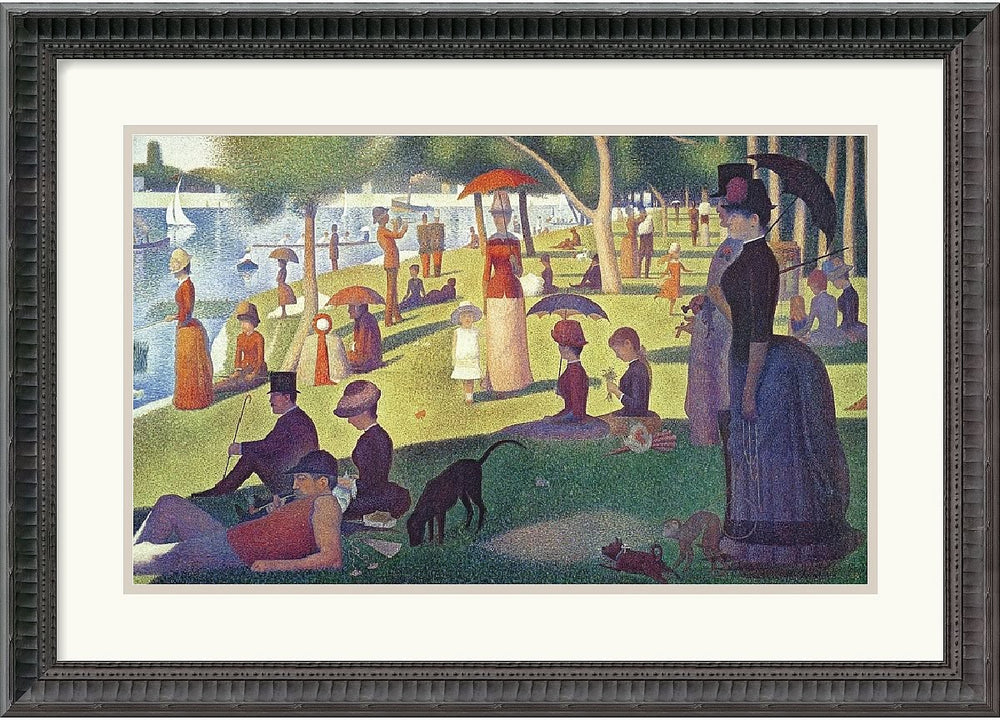 "24x17"" Georges Seurat Sunday Afternoon on the Island of La Grande Jatte 1884-1886 Framed Print"