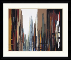 "37x31"" Gregory Lang Urban Abstract No. 165 Framed Print"