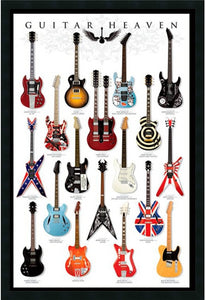 "37x25"" Guitar Heaven Framed Art Gel Coated"