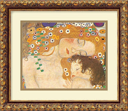 "15x13"" Gustav Klimt Three Ages of Woman Mother and Child Detail IV 1905 Framed Print"