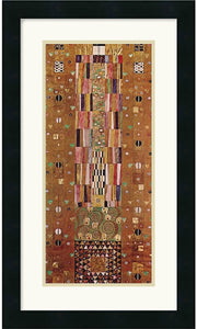Amanti Art Gustav Klimt Pattern for the Stoclet Frieze c. 1905-06 End Wall Framed Print AA114111