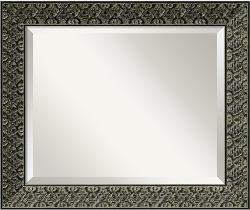"24x20"" Intaglio Mirror Antique Black"