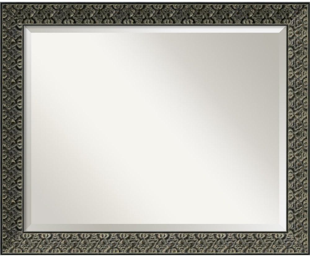 "26""H x 32""W Intaglio Mirror Antique Black"