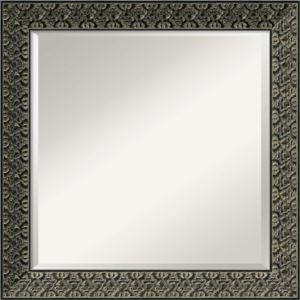 "24x24"" Intaglio Mirror Antique Black"