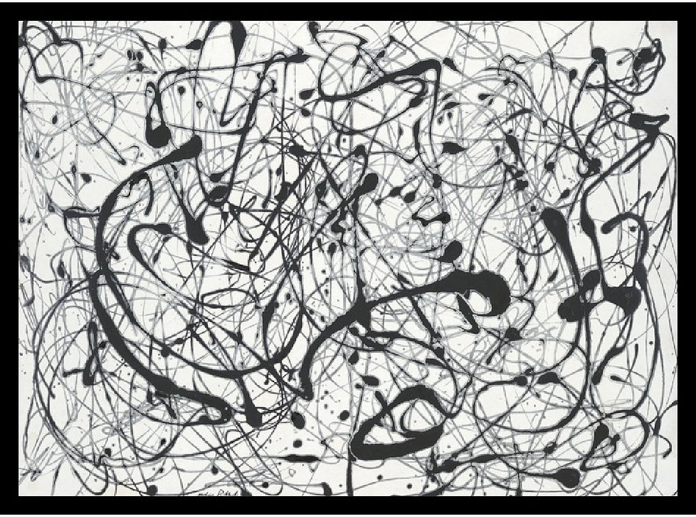 "22""H x 29""W Jackson Pollock Number 14Gray Framed Print"