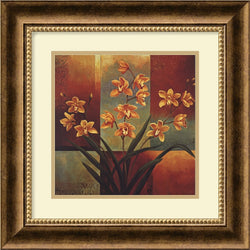 "17x17"" Jill Deveraux Orange Orchid Framed Print"
