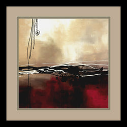 Amanti Art Laurie Maitland Symphony in Red and Khaki I Framed Print AA01182