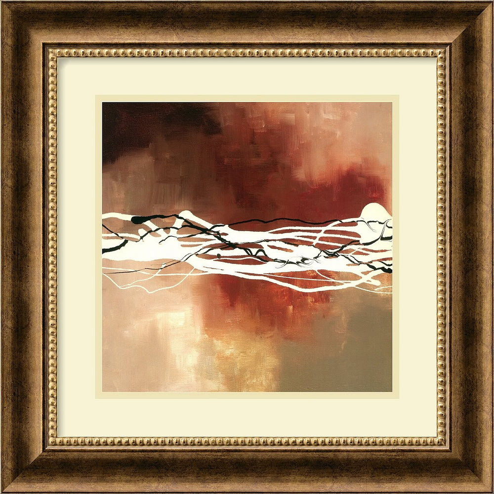 "18x18"" Laurie Maitland Copper Melody I Framed Print"