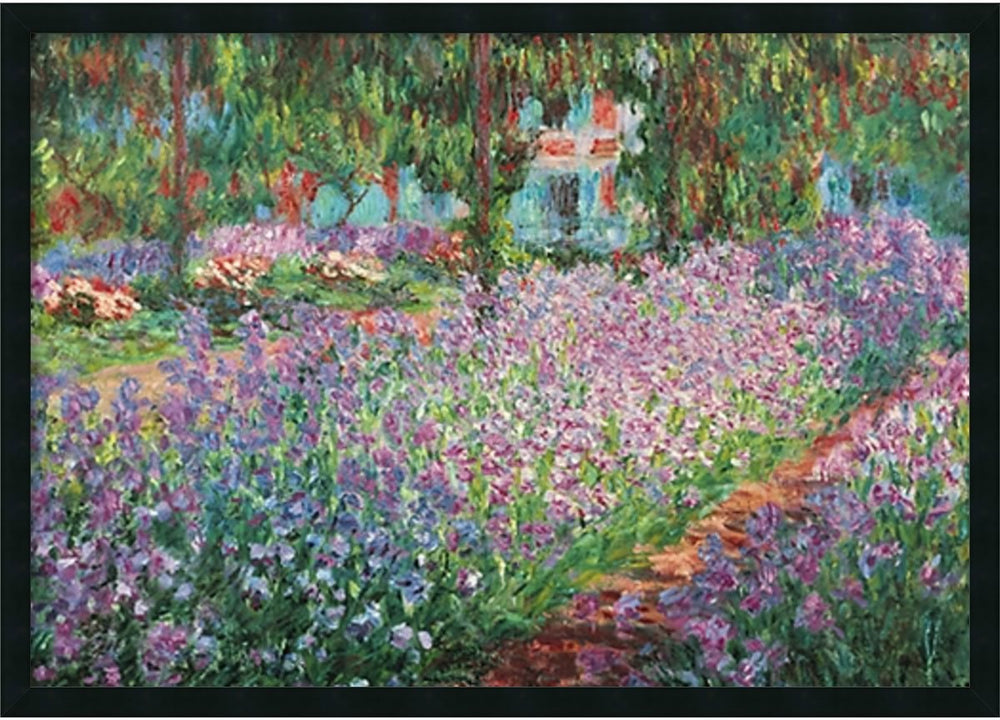 "26x38"" Le jardin de Montet Wall Art Satin Black"
