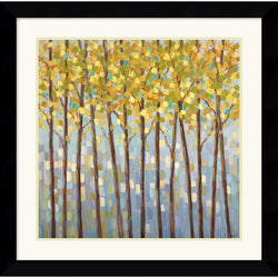 "27x27"" Libby Smart Glistening Tree Tops Framed Print"